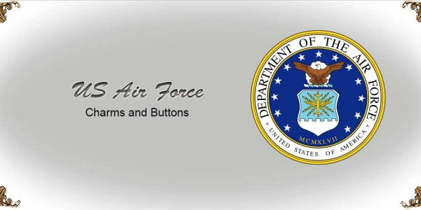 US Air Force Charms and Buttons