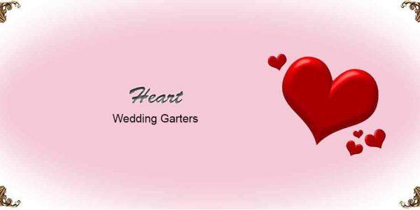 Heart Wedding Garters
